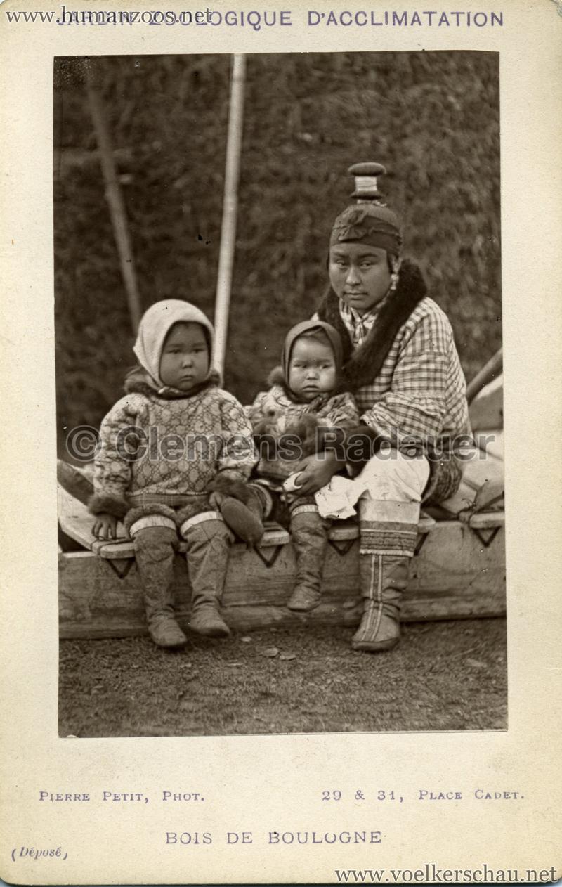 1878 (?) Jardin Zoologique d'Acclimatation Eskimo