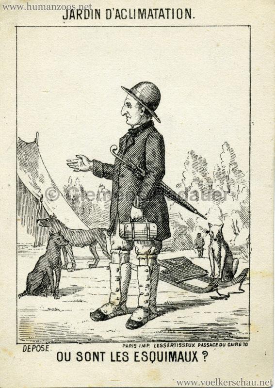 1878 (?) Ou sont les Esquimaux