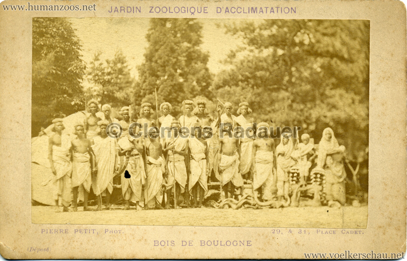 1879 (?) Jardin Zoologique d'Acclimatation - Nubiens 1