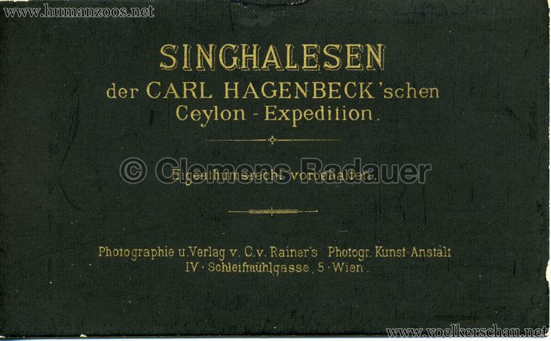 1884 (?) Singhalesen der Hagenbeck'schen Ceylon-Expedition RS
