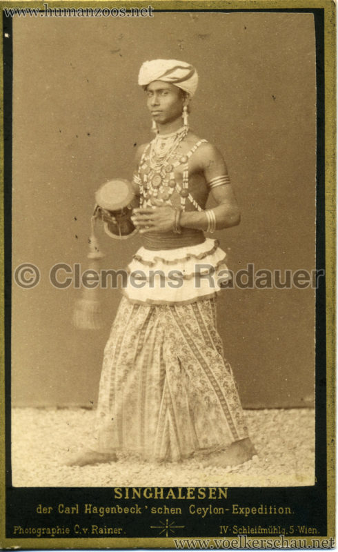 1884 (?) Singhalesen der Hagenbeck'schen Ceylon-Expedition VS