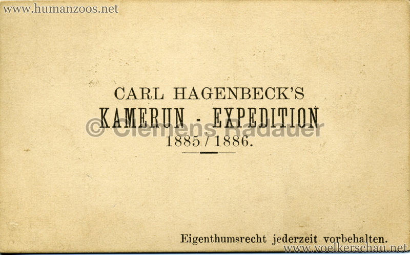 1885/1886 Carl Hagenbeck's Kamerun Expedition RS