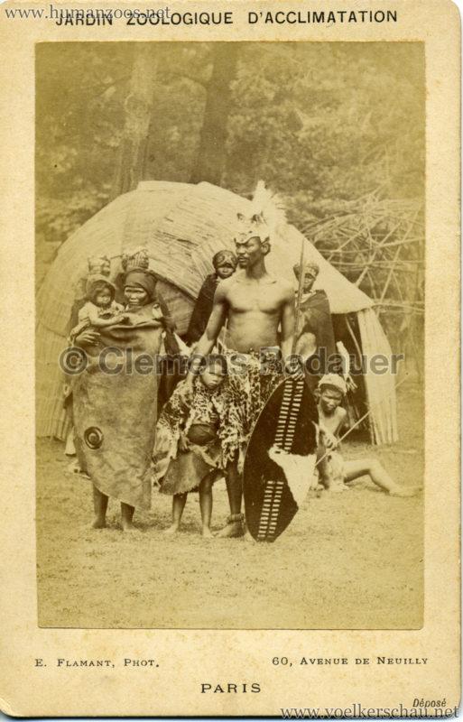1888 Jardin Zoologique d'Acclimatation - Types Hottentots VS