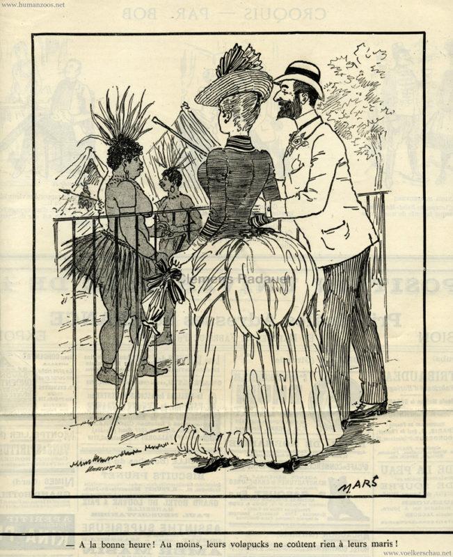 1888 Le Chivari - Les Hottentots aus JArdin d'Acclimatation S. 157