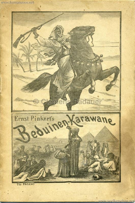 1890 Ernst Pinkert's Beduinen-Karawane Programm