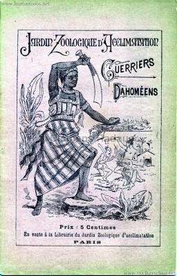 1891 Guerriers Dahomeens - Paris Jardin d'Acclimatation
