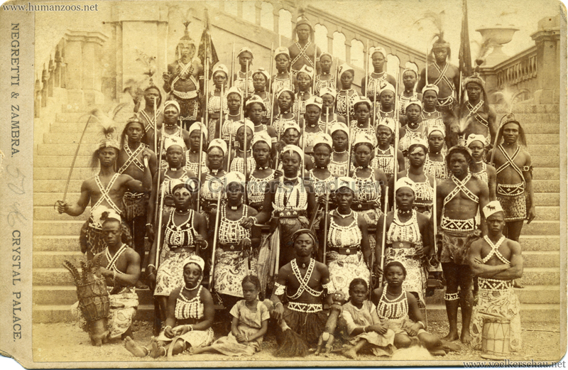 1893 London Crystal Palace - Amazon Warriors from Dahomey