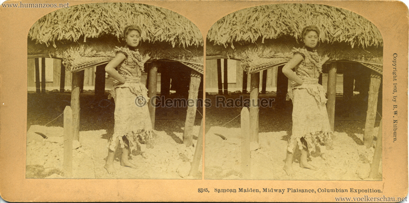 1893 World's Fair Samoan Maiden, Midway PLaisance 8385 1