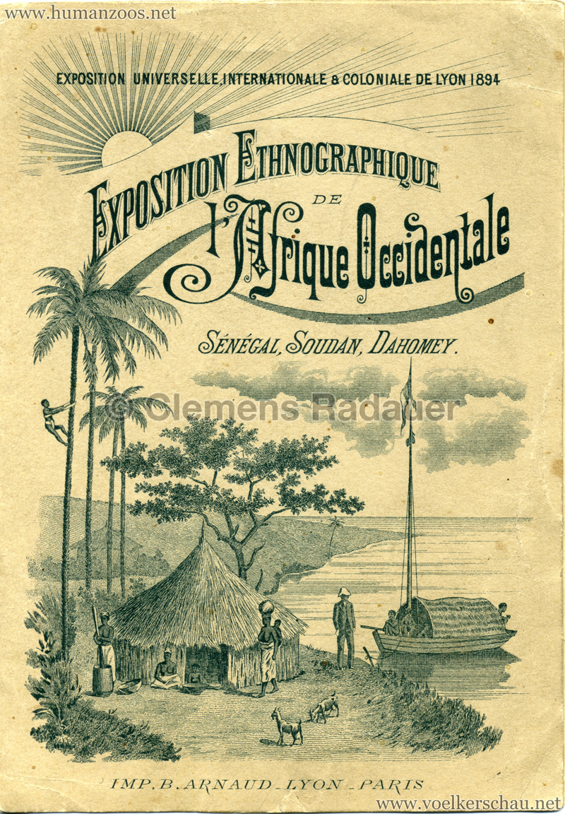 1894 Exposition Universelle, Internationale & Coloniale de Lyon - Exposition Ethnographique 1