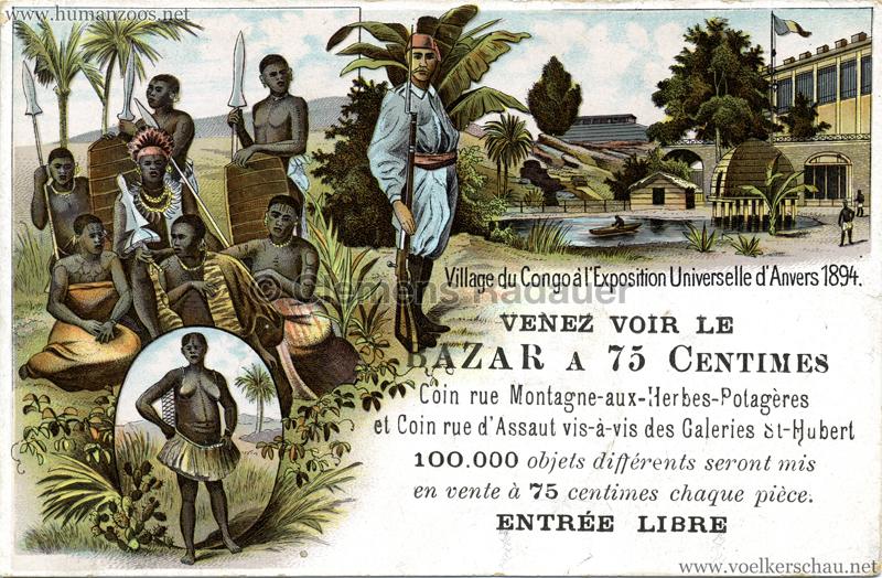 1894 Exposition Universelle d'Anvers - Village du Congo
