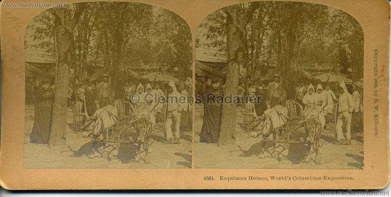 1894 World's Columbian Exposition Esquimau Homes 8561