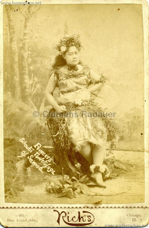 1889 Cunninghams Samoaner - Princess Silaulii