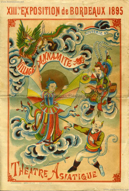 1895 Exposition de Bordeaux - Theatre Asiatique 1