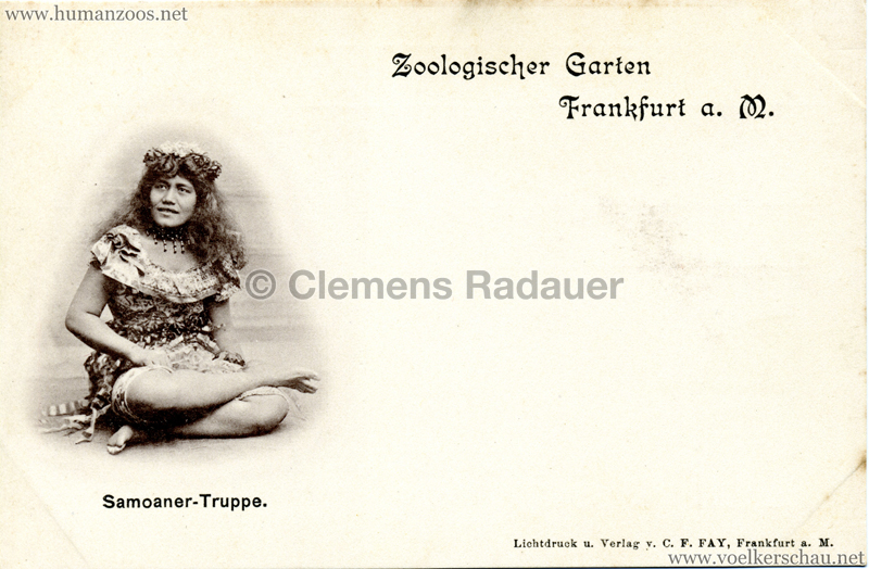 1895/1896 Samoaner-Truppe im Zoologischen Garten Frankfurt a. Main 1