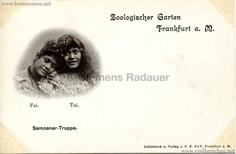 1895/1896 Samoaner-Truppe im Zoologischen Garten Frankfurt a. Main 2