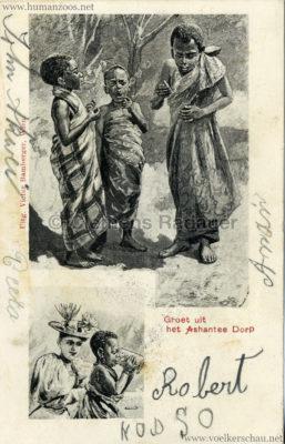 1896:1897:1898 Groet uit het Ashantee Dorp 1 2