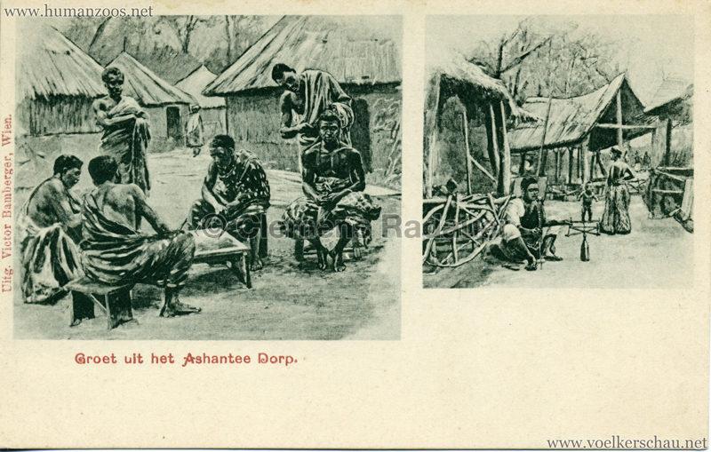 1896:1897:1898 Groet uit het Ashantee Dorp 2