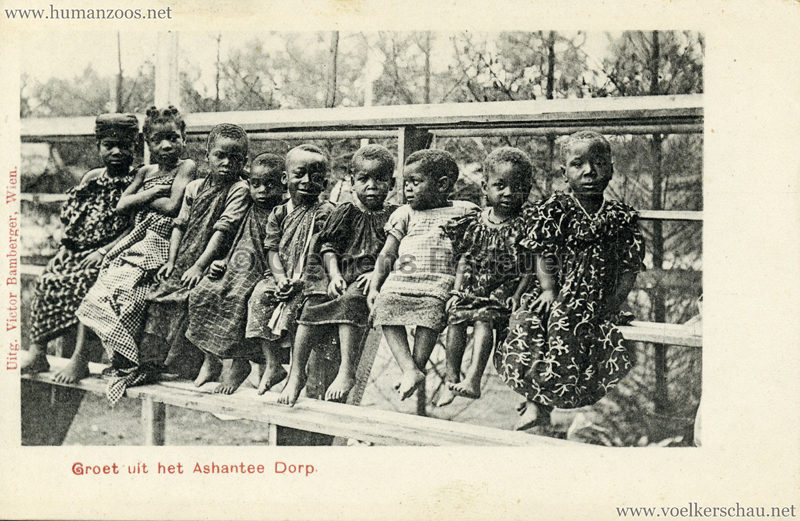 1896:1897:1898 Groet uit het Ashantee Dorp 3