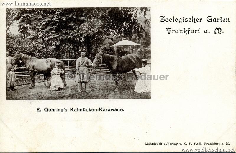 1897 E. Gehrings Kalmücken-Karawane im Zoologischen Garten Frankfurt a. Main 1