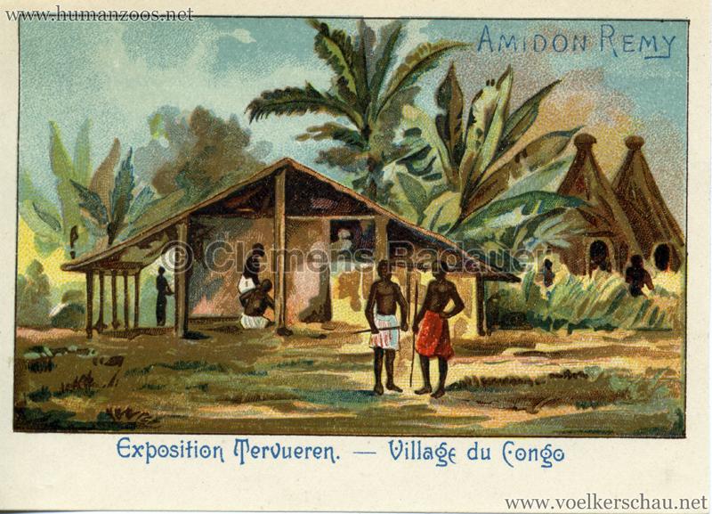 1897 Exposition Internationale de Bruxelles Tervueren - Village Congo