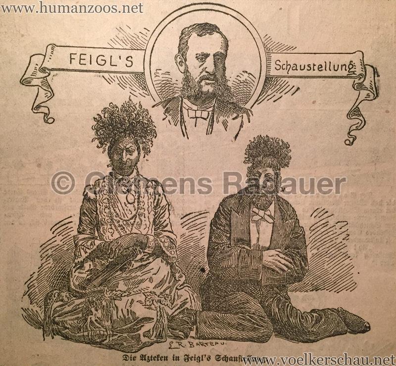 1897.06 Illustrirtes Wiener Extrablatt - Feigl's Schaustellung Azteken