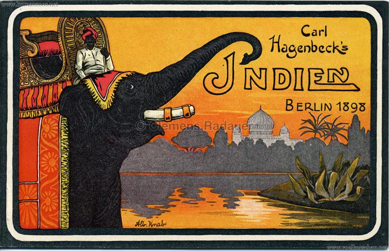 1898 Carl Hagenbeck's Indien Berlin