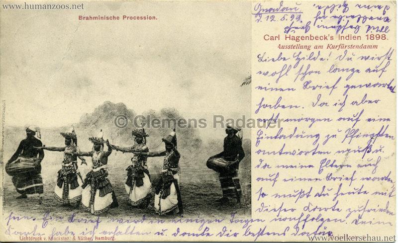 1898 Carl Hagenbeck's Indien - Brahminische Procession
