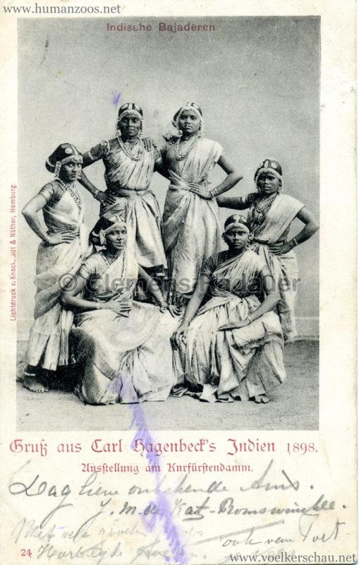 1898 Carl Hagenbeck's Indien - Indische Bajaderen