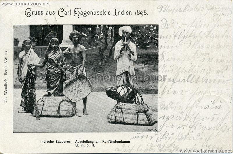 1898 Carl Hagenbeck's Indien - Indische Zauberer