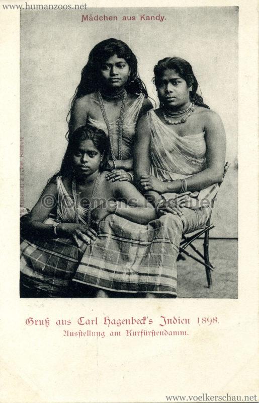 1898 Carl Hagenbeck's Indien - Mädchen aus Kandy