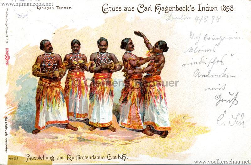 1898 Carl Hagenbeck's Indien No 22. - Kandyan-Tänzer