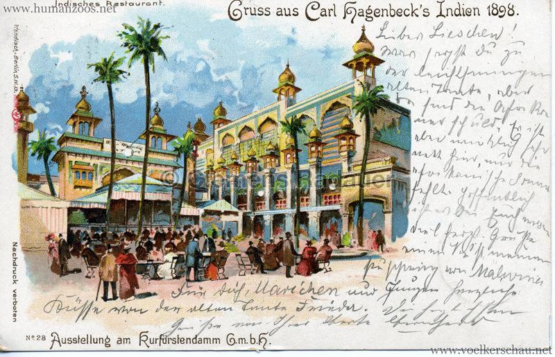 1898 Carl Hagenbeck's Indien No 28. - Indisches Restaurant