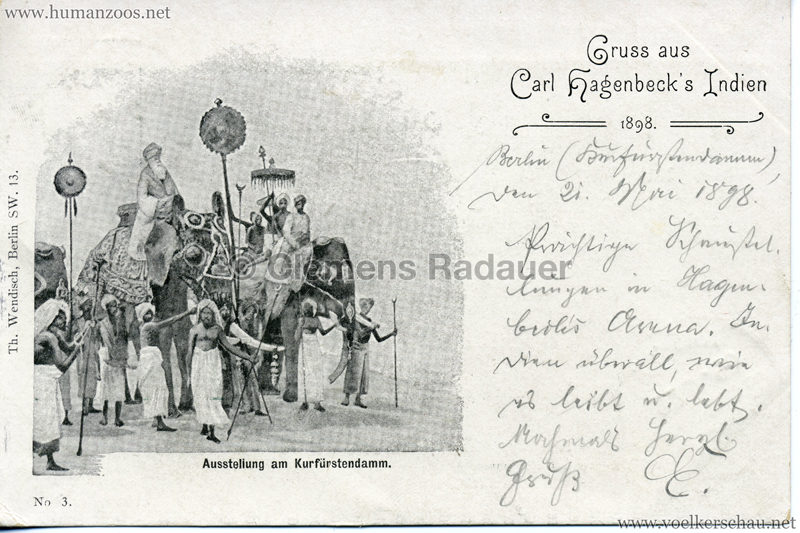 1898 Carl Hagenbeck's Indien No 3