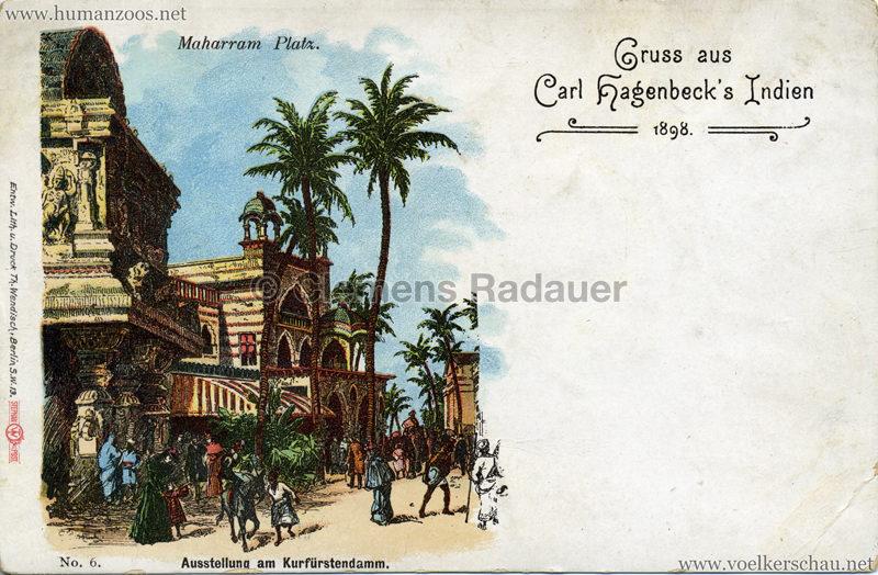 1898 Carl Hagenbeck's Indien No 6. - Maharram-Platz