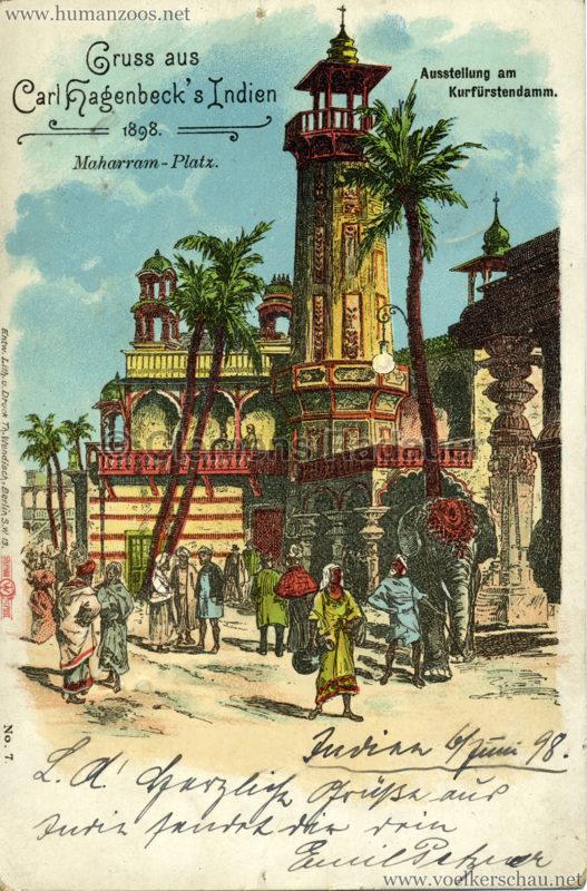 1898 Carl Hagenbeck's Indien No 7. - Maharram-Platz