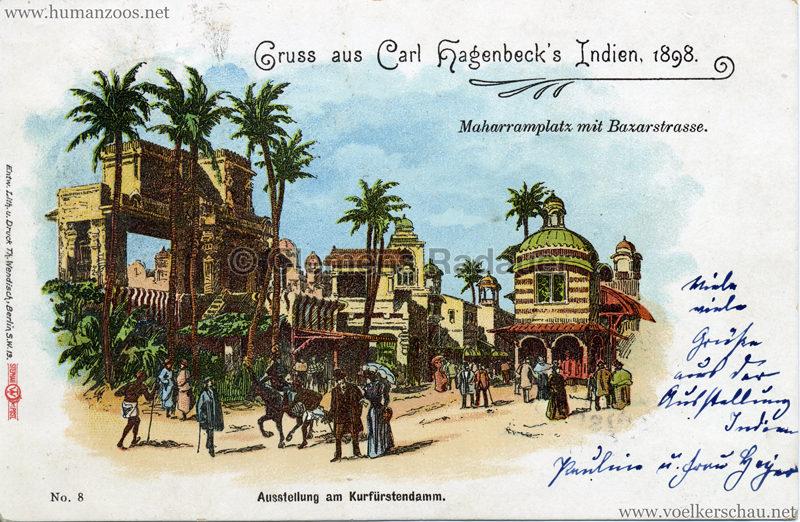 1898 Carl Hagenbeck's Indien No 8. - Maharramplatz mit Bazarstrasse