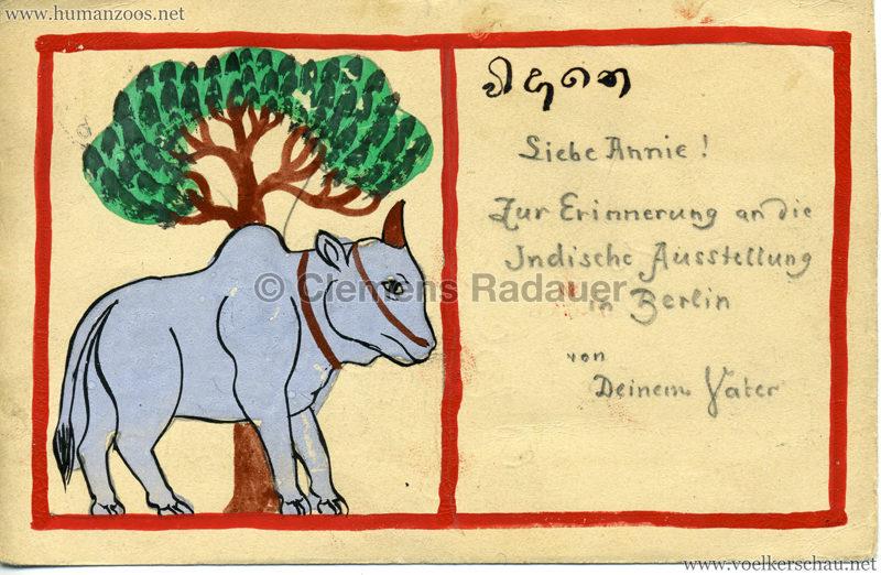 1898 Carl Hagenbeck's Indien - Zebu