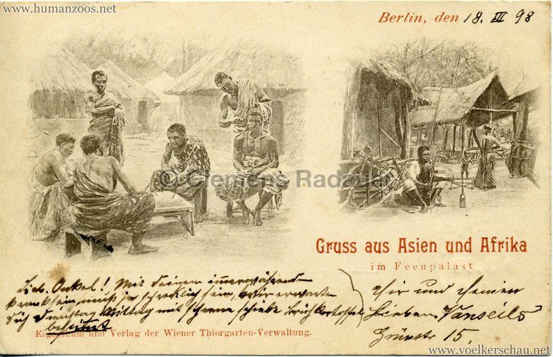 1898 Gruss aus Asien und Afrika im Feenpalast