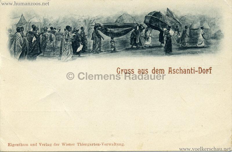 1899 Gruss aus dem Aschanti-Dorf 2