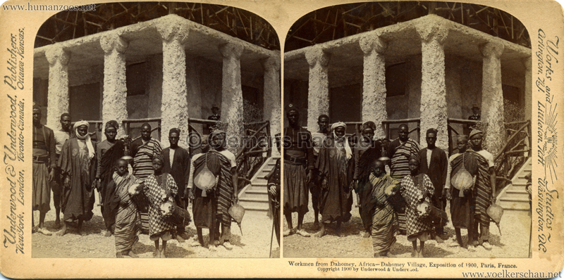 1900 Exposition Universelle de Paris - Dahomey Village - Workmen of Dahomey