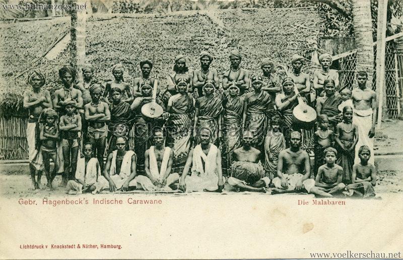 1900 Gebr. Hagenbeck's Indische Carawane - Die Malabaren