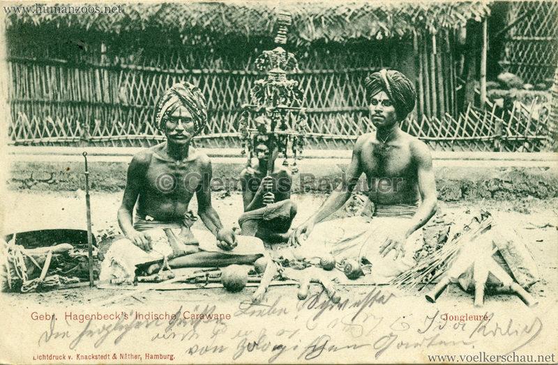 1900 Gebr. Hagenbeck's Indische Carawane - Jongleure