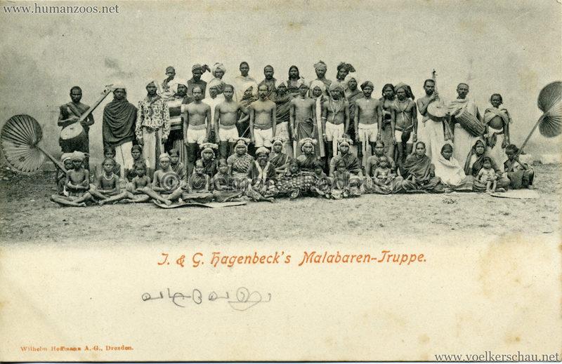 1900/1901 J. & G. Hagenbeck's Malabaren-Truppe 2