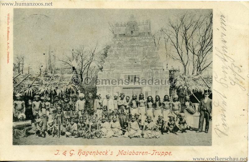 1900/1901 J. & G. Hagenbeck's Malabaren-Truppe 1