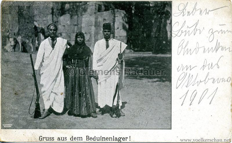 1901 Gruss aus dem Beduinenlager