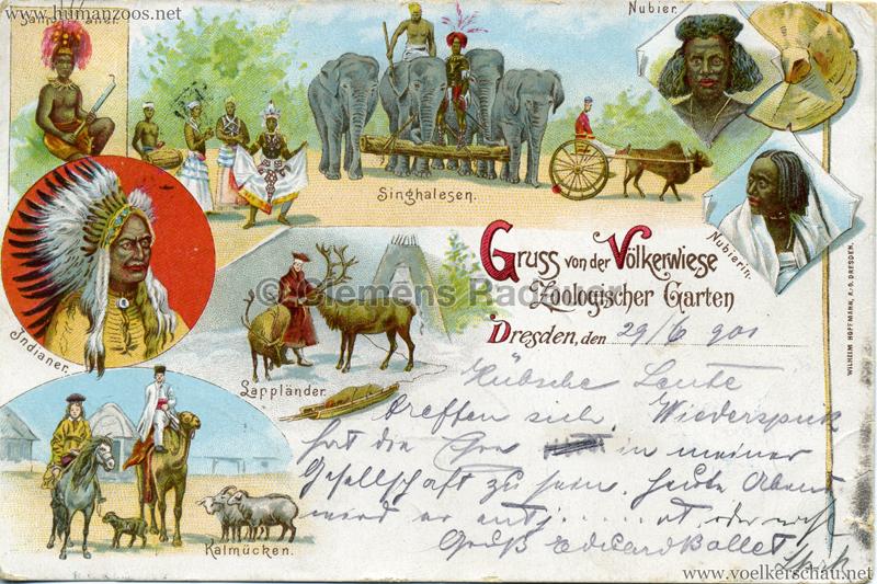 1901 (?) Gruss von der Völkerwiese Zoologischer Garten Dresden