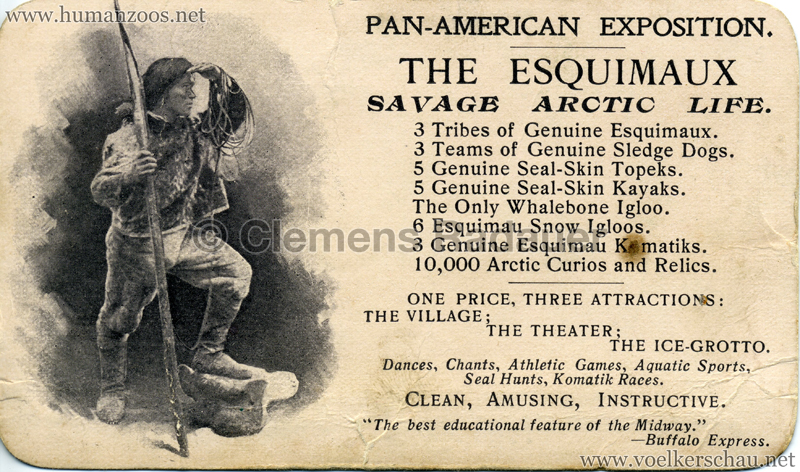1901 Pan-American Exposition - The Esquimaux