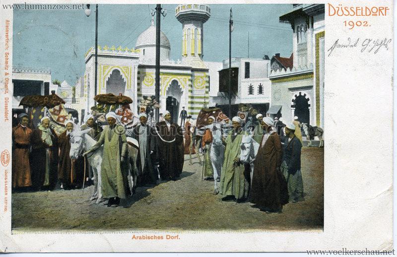 1902 Industrie- & Gewerbe-Ausstellung Düsseldorf - Arabisches Dorf