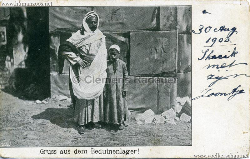 1902 Gruss aus dem Beduinenlager