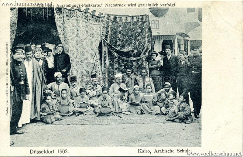 1902 Industrie- & Gewerbeausstellung Düsseldorf - Kairo. Arabische Schule 2